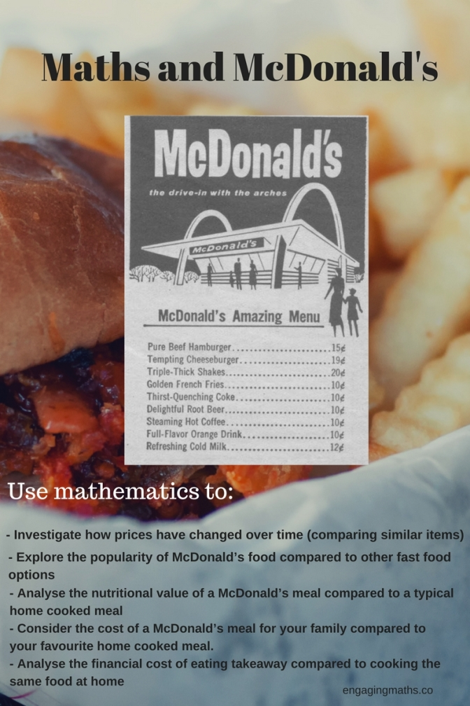 Critical Thinking, Mathematics, and McDonald's